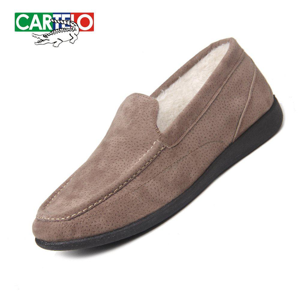 Fashion CARTELO Men's Sport Loafers With Soft Soles And Fleece