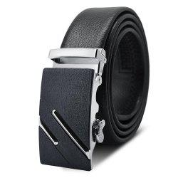 AC003A1007 Men'S Frosted Alloy Automatic Buckle Belt -