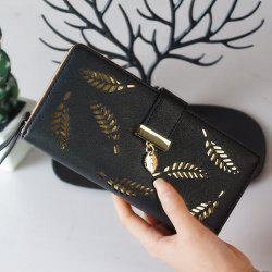 New Lady Fashion Hollowed-Out Leaves Money Clips -