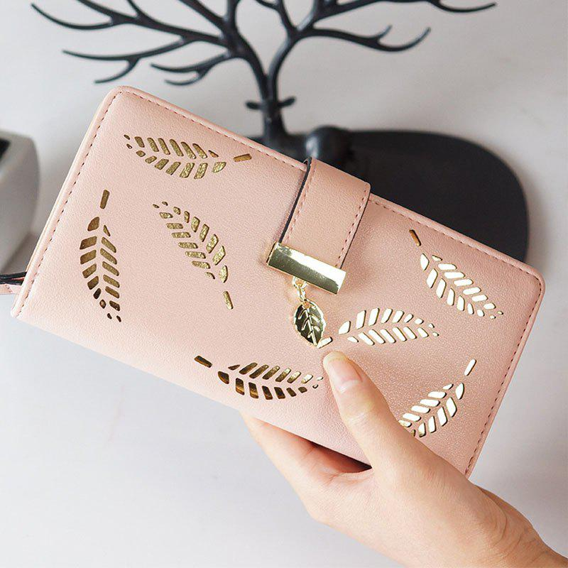 Chic New Lady Fashion Hollowed-Out Leaves Money Clips