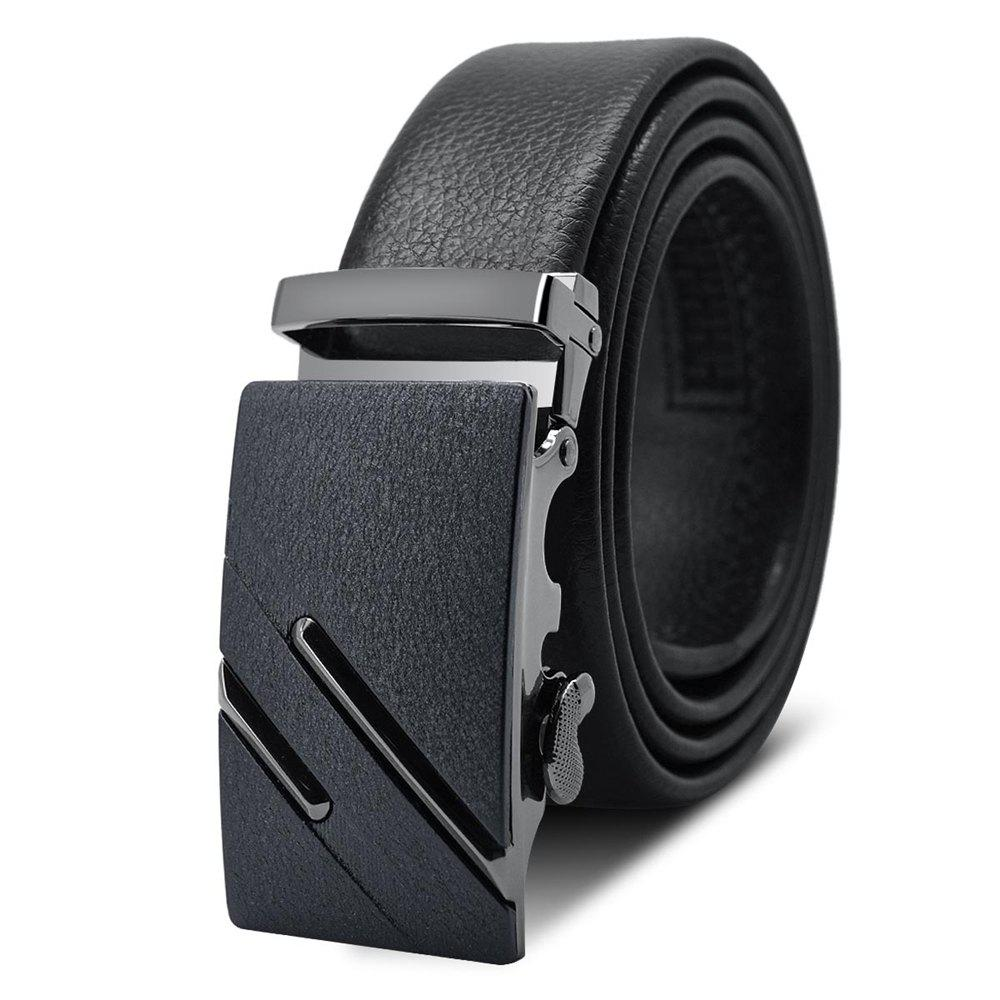 Unique Men'S Frosted Alloy Automatic Buckle Belt AC003A1007