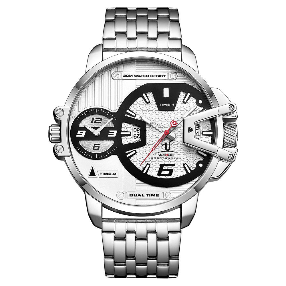 Fashion Men's Multi-function Double-core Display Sports Business Steel Band Watch