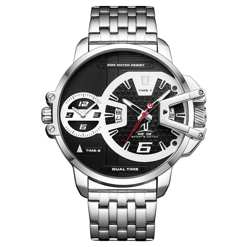 Affordable Men's Multi-function Double-core Display Sports Business Steel Band Watch