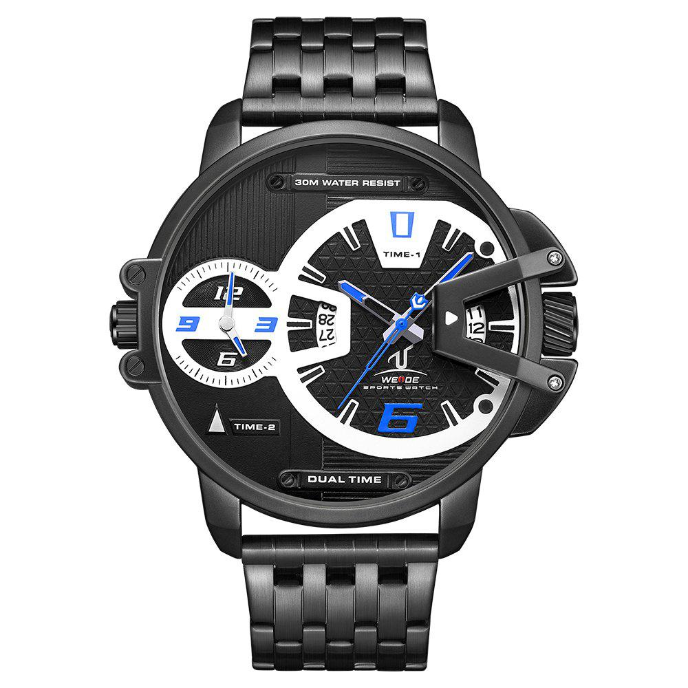 Hot Men's Multi-function Double-core Display Sports Business Steel Band Watch