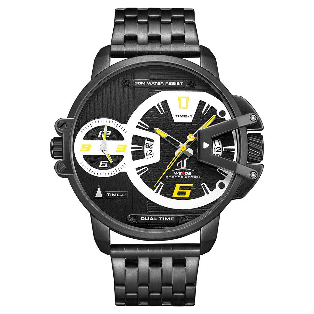 Discount Men's Multi-function Double-core Display Sports Business Steel Band Watch