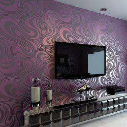 Modern Simplicity 3D Lines Non-woven Cloth Wallpaper Wall Sticker Mural -