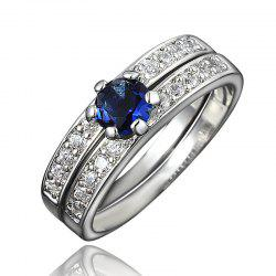XU Women Zircon 18K Gold Plated Rings Refers To The Ring -