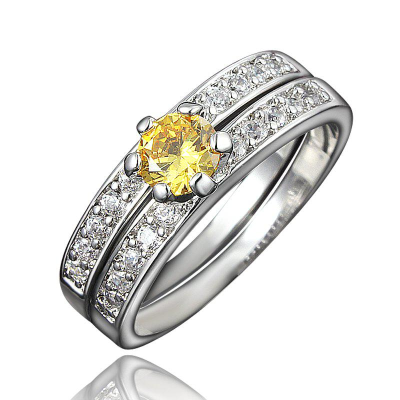 Discount XU Women Zircon 18K Gold Plated Rings Refers To The Ring
