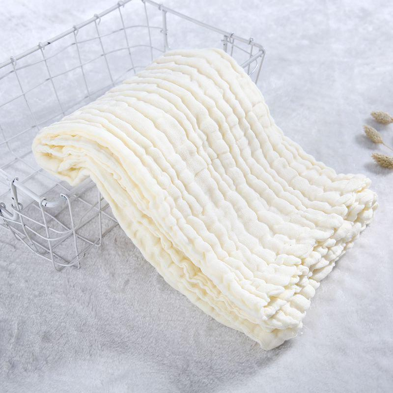 Shop Baby Washed Gauze Holding Cotton Baby Cover Pleated Gauze Color Bath Towel