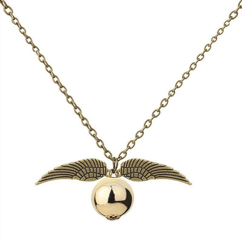 Trendy Creative Men's Wings Plus Ball Necklaces