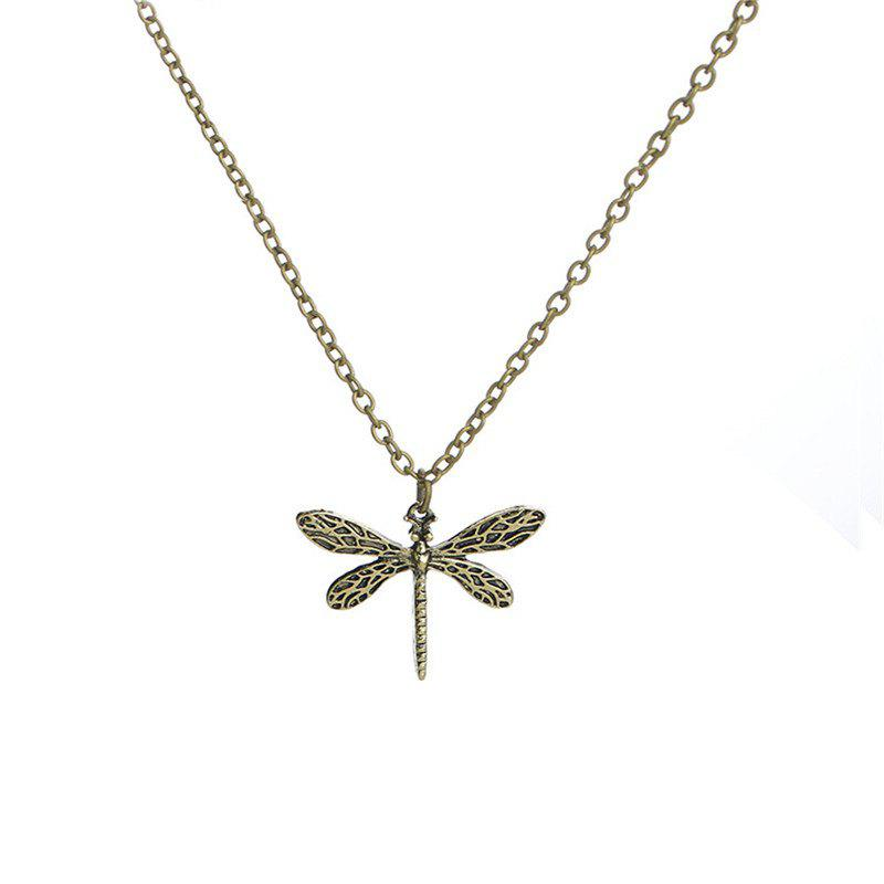 Unique Jindian Fashion Lady Dragonfly Alloy Necklace
