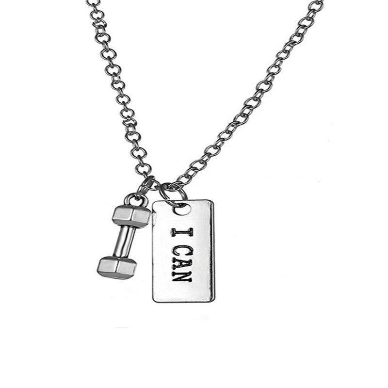 Unique Fashionable Personality Dumbbell Necklace for Men