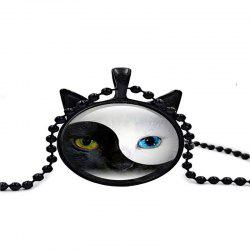 Individual Male Tai Chi Cat Necklace -