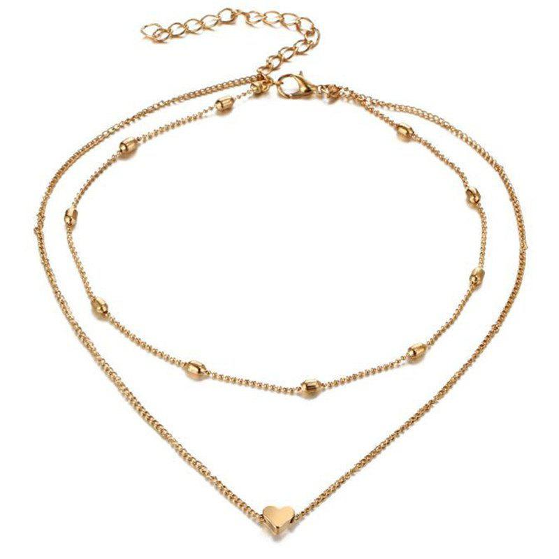 Sale Lady Baitao's Peach Heart Multilayer Necklace