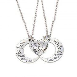 Fashion Sweet To Lover I Love You Double Necklace -