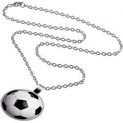 Fashion Trend Men's Basketball Glass Necklace -