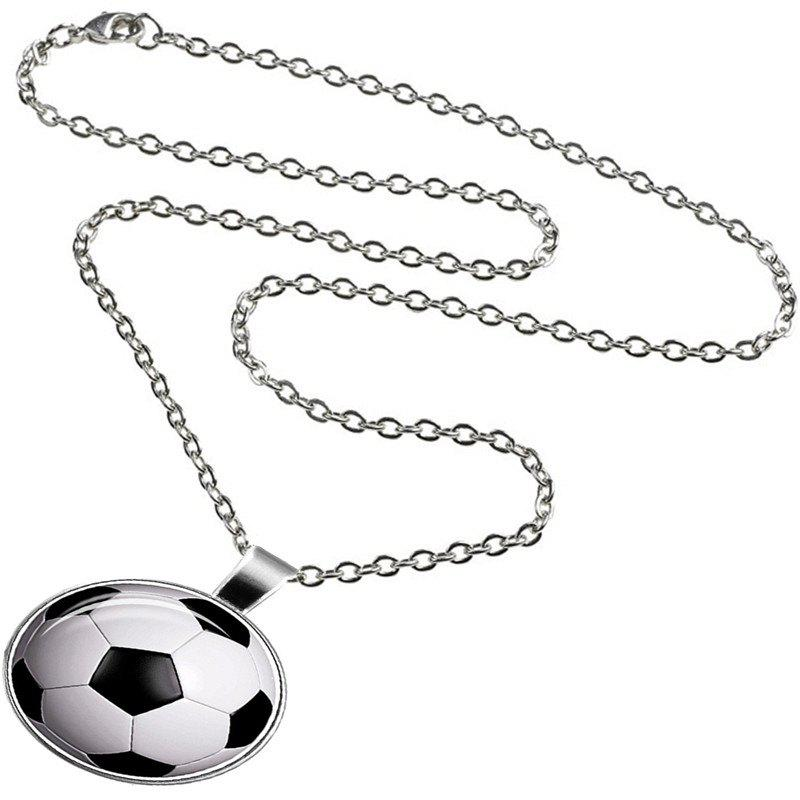 Fancy Fashion Trend Men's Basketball Glass Necklace
