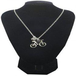 Fashionable Individuality Lady Bicycle Love Necklace -