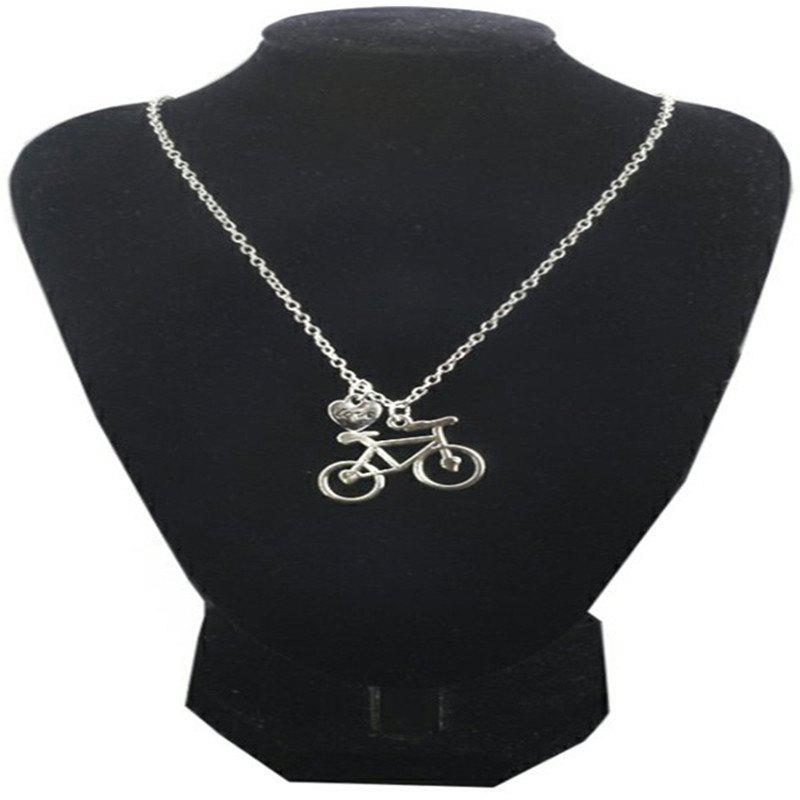 Shops Fashionable Individuality Lady Bicycle Love Necklace