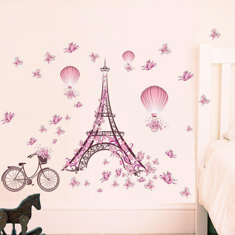 Cheap Eiffel Tower Removable PVC Wall Sticker
