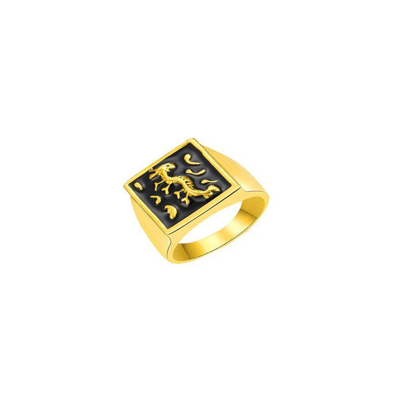 Online National Style Fashion Golden Dragon Ring for Men