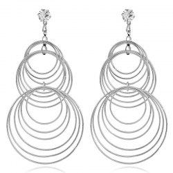 Fashion Lady's Simple Geometric Ring Earrings -