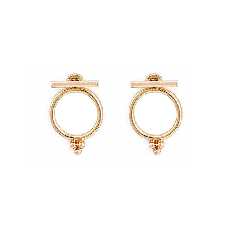Online Fashion Lady's Back-Hanging Ring Earrings