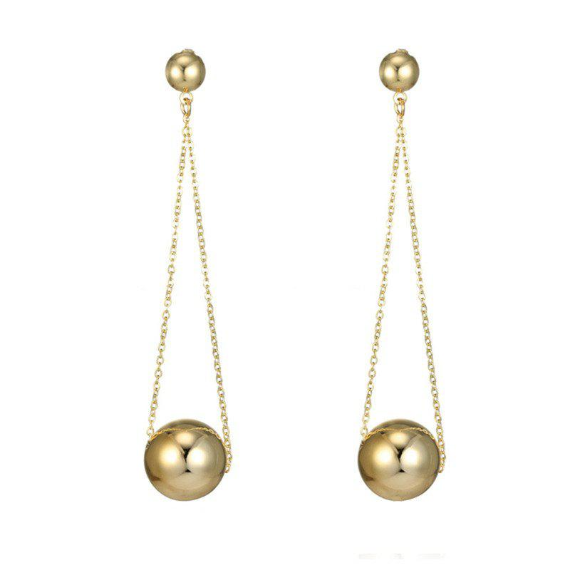 Affordable Elegant and Noble Lady's Round Ball Long Chain Earrings