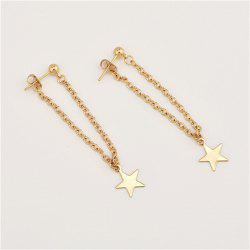 Golden Fashion Lady Liushu Star Earrings -