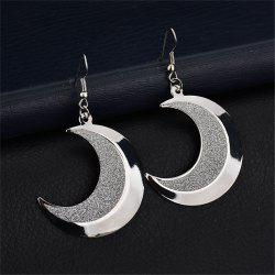 Personality Style Woman's Moon Tooth Frosted Earrings -
