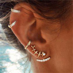 5 Pcs of Ear Nails with Fish Bones for Ladies with Personality Baitao -