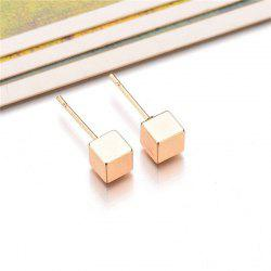 Ladies Simple Cube Ear Nails -