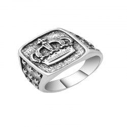 Fashion Simple Men's Alloy Crown Ring -