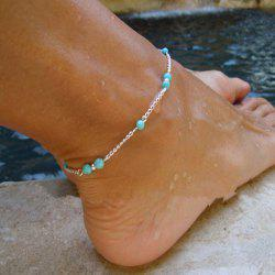 1 pc Silver Color Chain Turquoise Anklets -
