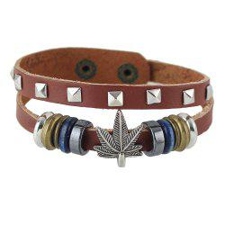 Brown Pu Leather Adjustable Bracelets -