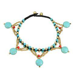 1 pc Beach Style Beads Chain Anklets -