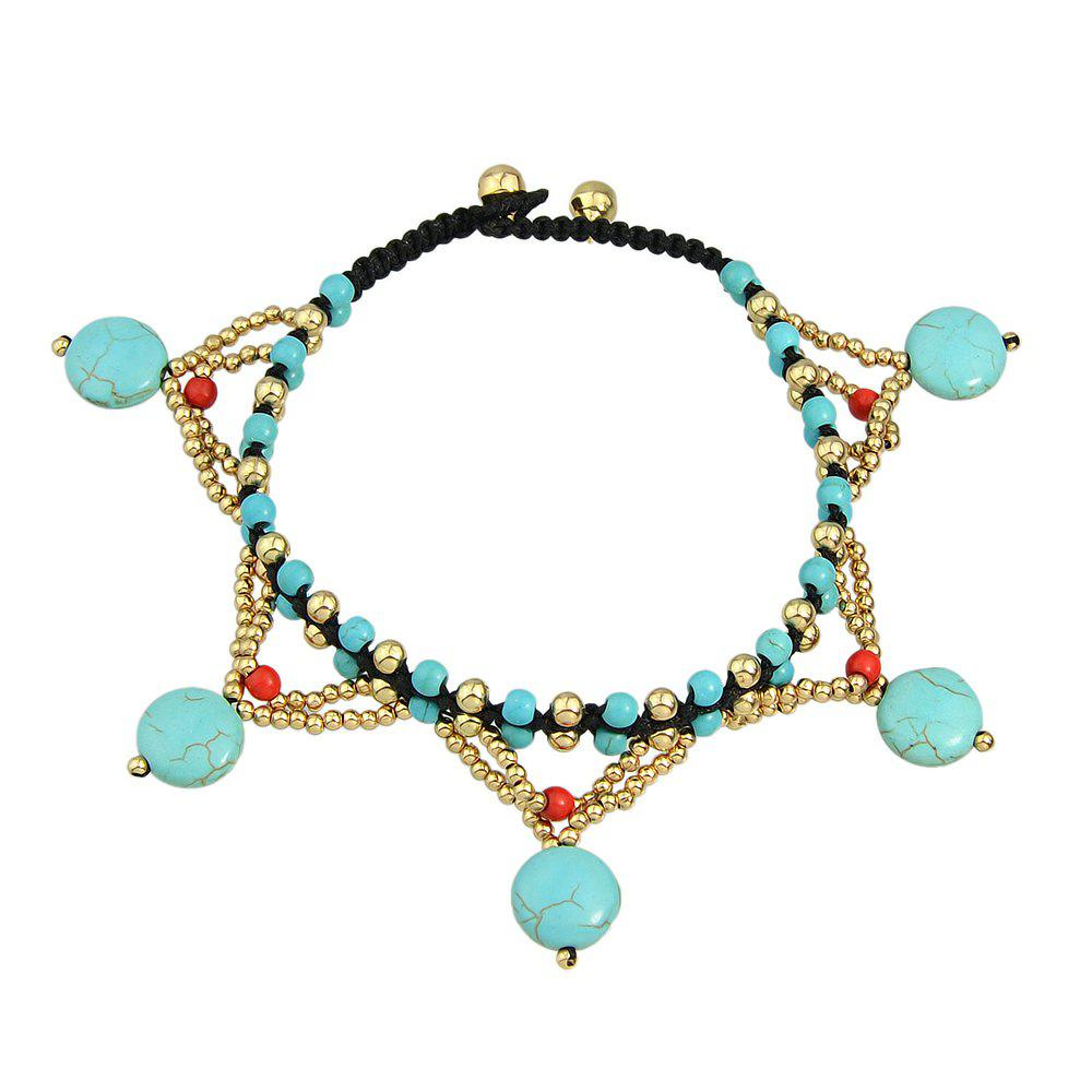 Chic 1 pc Beach Style Beads Chain Anklets