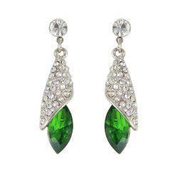 Colorful Crystal Water Drop Earring -
