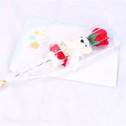Valentine's Day 1pcs Bear Rose Soap Flower Bouquet Doll Romantic Courtship Gifts -