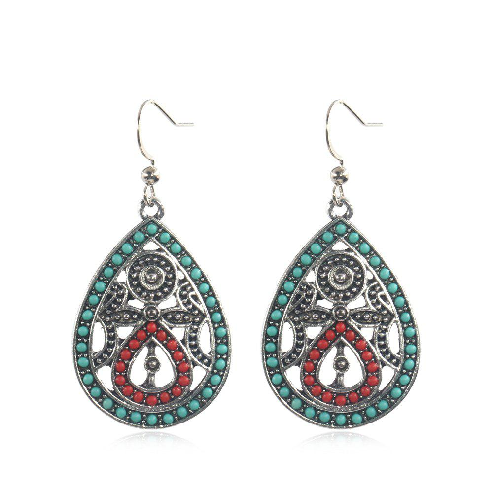 Outfits Women New Accessories Drop-Shaped Alloy Pendant Earrings