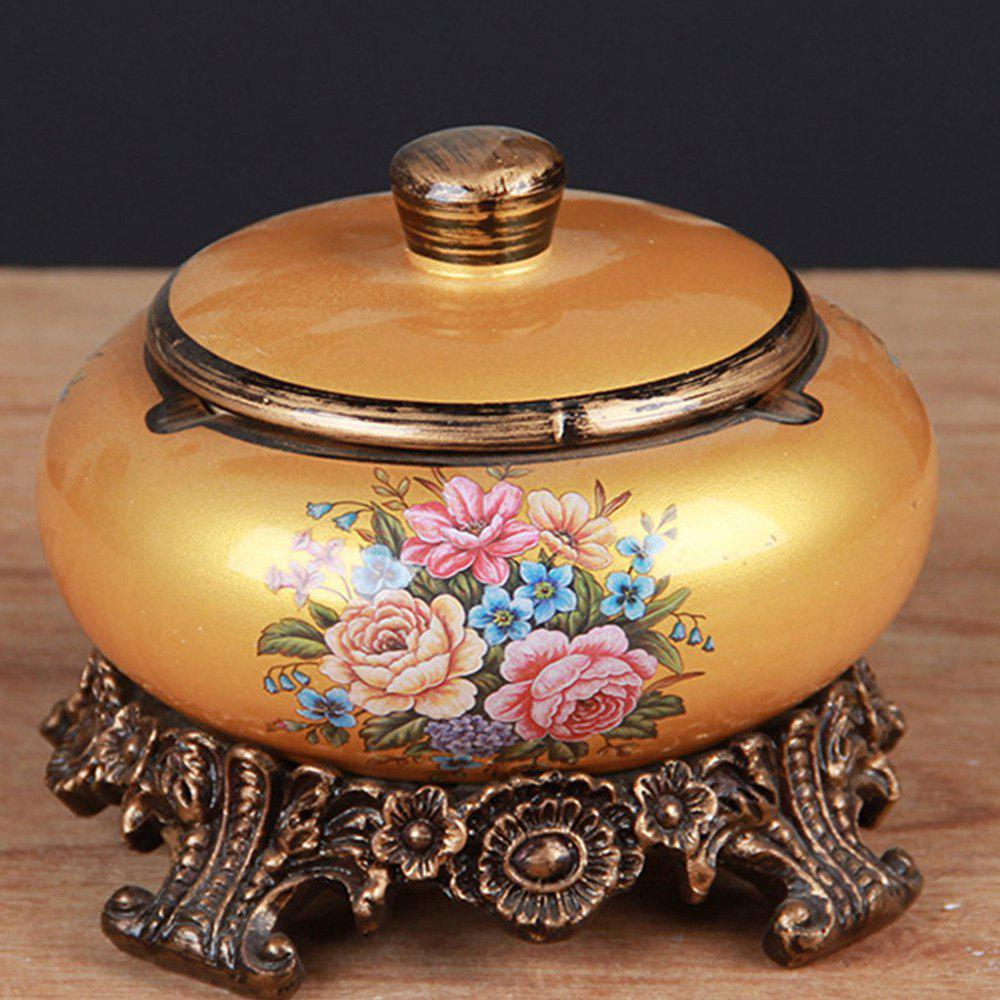 New Ceramic Large with Lid Ashtray Ashtray Creative Decorative Ornaments