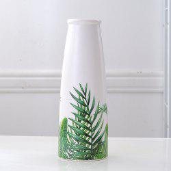 Ornements de fleurs de vase en céramique tropicale Sen Green Turtle Back Leaf - Multi-A