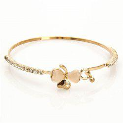 Fashionable Individual Lady's Butterfly-Knotted Cat-Eye Bracelet -