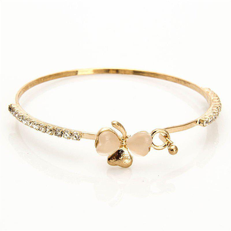Fancy Fashionable Individual Lady's Butterfly-Knotted Cat-Eye Bracelet