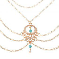 Elegant Fashion Lady's Turquoise Water Drop Foot Chain -