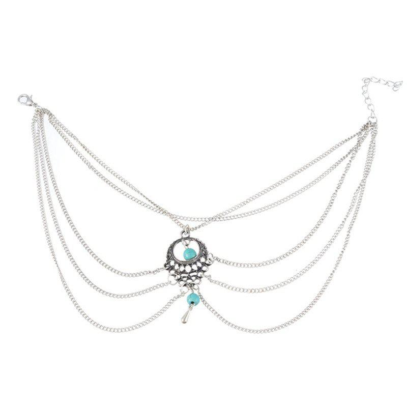 Online Elegant Fashion Lady's Turquoise Water Drop Foot Chain