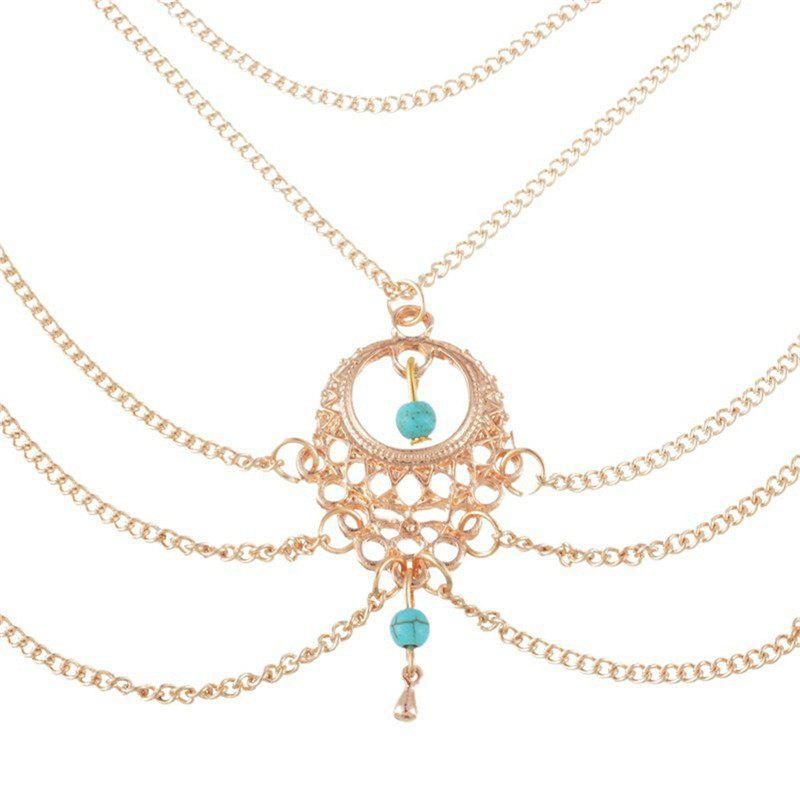 Outfit Elegant Fashion Lady's Turquoise Water Drop Foot Chain
