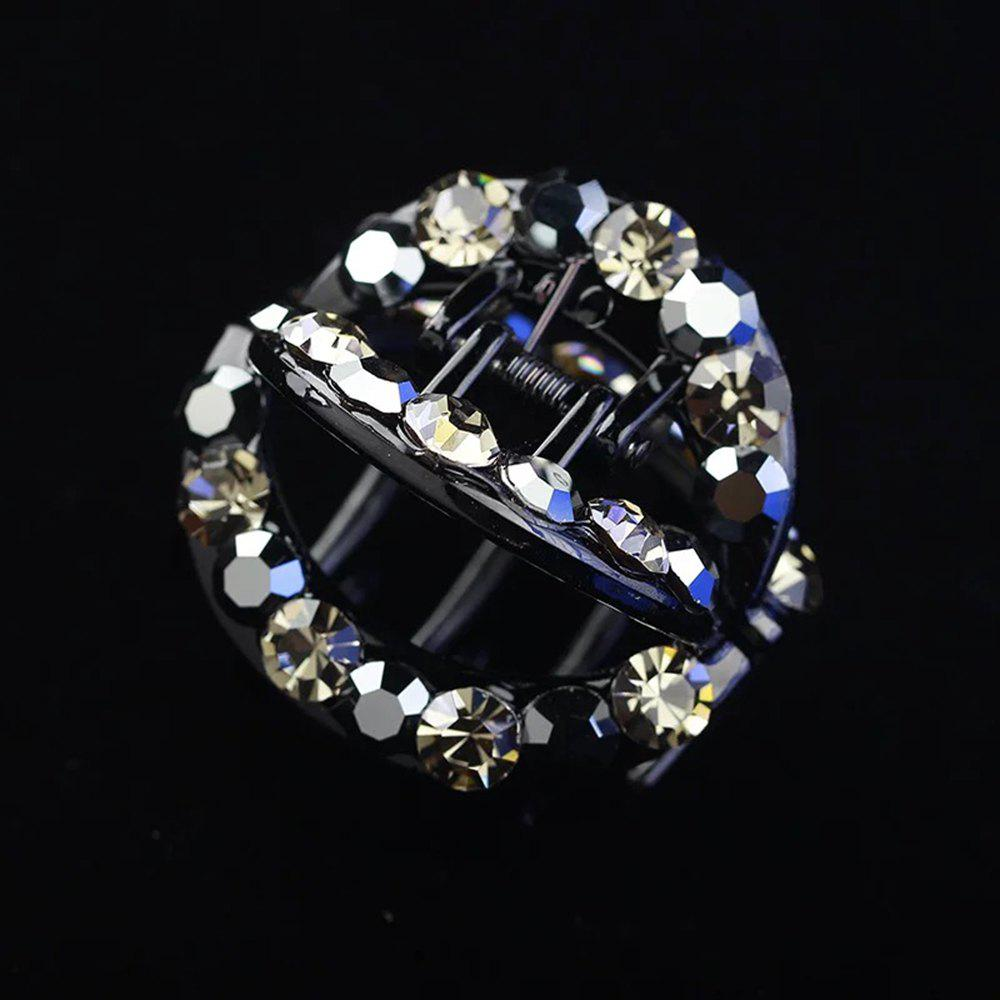 Fashion Round Hollow Inlaid Drill Hairpin