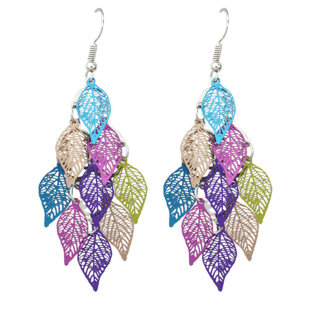 Affordable Hollow out Leaf Drop Earrings