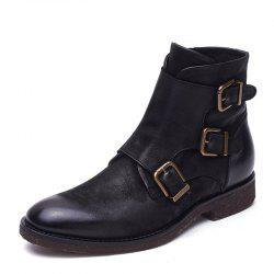 Aidebaou Men's boots  Work boots British boots -
